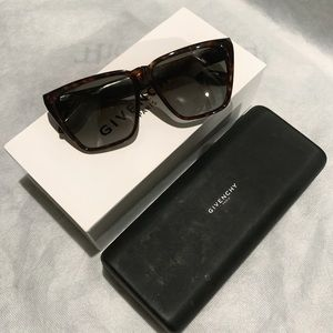 Givenchy Tortoise Shell Square Sunglasses